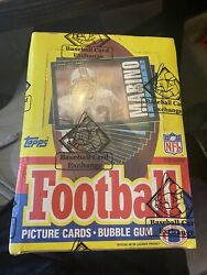 Vintage 1985 Topps Nfl Football Cards Wax Box Sealed From Bbce - Non X Out