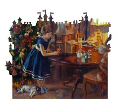 Davici Wooden Jigsaw Puzzle Doll's House, 240 Pcs. Whimsy Details. New