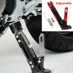 Motorcycle Kickstand Foot Tripod Side Stand Holder Anti-fall Parking Support Leg
