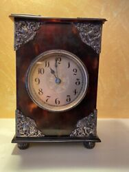 Antique Repeater Carriage Clock Tortoise Shell