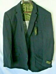 Alexander Julian Colours Mens Big And Tall Single Breasted Knit Travel Sportcoat