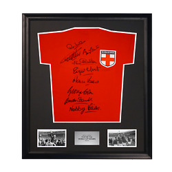1966 World Cup England St George Cross Shirt Signed By 9 Players