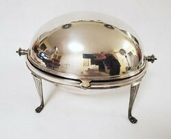 Antique Sheffield Silverplate Revolving Dome Food Server Mappin And Webb