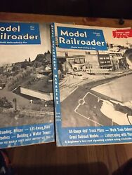1-1951 ,1-1953 Model Railroader Magazines / Greats Adds + Information