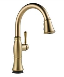 Delta 9197t-cz-dst Cassidy Touch2o 1-handle Kitchen Faucet In Champagne Bronze