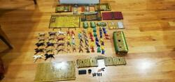 Vintage 1950's T.cohn Superior Fort And Trading Post Playset 95 In Original Box