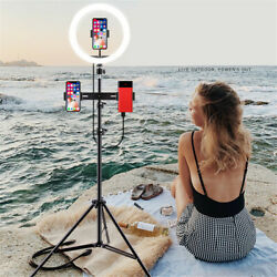 3 In1 Led Ring Light With Stand Fr Youtube Tiktok Makeup Video Live Phone Selfie