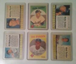 1959 Topps And 1961 Post Cereal Vintage Baseball Sports Trading Cards