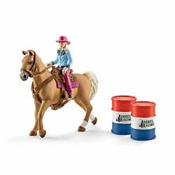 Schleich Farm World 6-piece Cowgirl Barrel Racing And Horse Rodeo Toys For Kids...