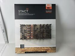 2x Stact Wall Mounting Wine Rack L-type Modular Wine Wall Panel - Concrete/gold