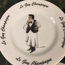 set Of 12 Guy Buffet Le Guy Champagne 7.5 Salad/desrt. Plate House Of Prill