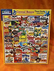 Complete White Mountain Puzzles Vintage Cereal Boxes 1000 Piece Jigsaw 1261