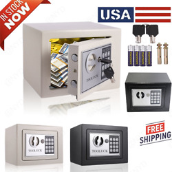 Home Digital Security Safe Box Wall With Lock For Jewellery Money Valuables+keys