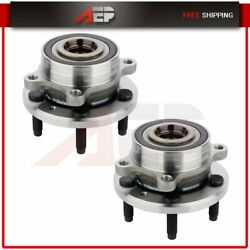 Pair Of 2 Front Driver Or Passenger Wheel Hub Bearing For 2013-2018 Ford Taurus