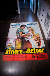 River Of No Return 4x6 Ft Vintage French Grande Movie Poster Rerelease 1961