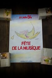 France Music Party By Sempe 1984 14 X 22 Rolled Art Poster Original