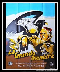 The Great Adventure 4x6 Ft Vintage French Grande Movie Poster 1953