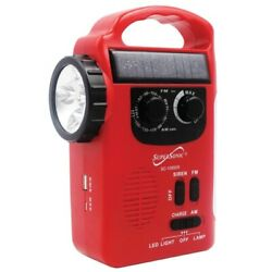 Supersonic Sc-1095er 5-way Emergency Solar/hand Crank Radio With Flashlight