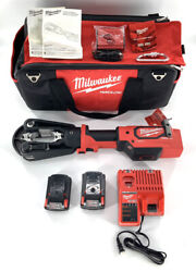 Milwaukee 2879-20 M18 Force Logic 15t Crimper W/ 2 Batteries And Charger + More