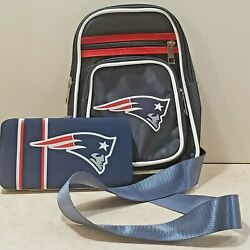 Set Of 2 New England Patriots Cross Body Sling/shell Mesh Wallet By Little Earth