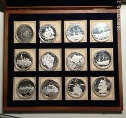 2000 - Liberia - 5and20 Dollars - Legends Of The Oceans 12 Pieces In Box Proof