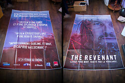 The Revenant Dicaprio 5x8 Ft Double French Grande Movie Poster Original 2016