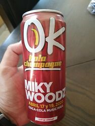 Puerto Rico Rare Ok Kola Champagne Miky Woods Concert Can By Coca Cola Music...