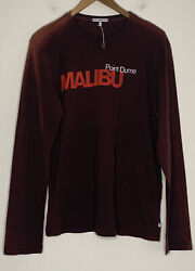 Nwot James Perse Point Dume Malibu Long Sleeve Small Sz 1 Faded Rust Color