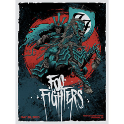 Foo Fighters Poster 5/20/2020 Ontario Canada Signed And Numbered /120 Artist Ed