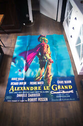 Alexander The Great 4x6 Ft Vintage French Grande Movie Poster 1956 Used