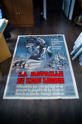 The Heavy Water War 4x6 Ft Vintage French Grande Movie Poster Original 1947