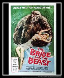 The Bride And The Beast On Linen 27x40 One Sheet Movie Poster Original 1958