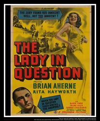The Lady In Question 27x40 Us One Sheet Vintage Movie Poster Original 1940