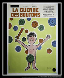 War Of The Buttons A 4x6 Ft Vintage French Grande Original Movie Poster 1961