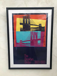 Andy Warhol Signed Brooklyn Bridge Lithograph Poster 1983