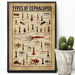 Types Of Cephalopod Cuttlefish Unframed Poster