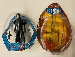 Loose Farscape Action Figure Scorpius The Hunter With Accessories And Box
