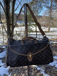Vintage French Company Louis Vuitton Travel Luggage Overnight Bag