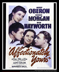 Affectionately Yours 27x40 Us One Sheet Vintage Movie Poster Original 1941