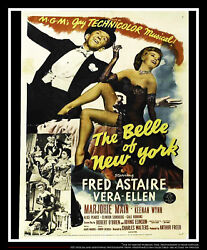 The Belle Of New York 27x40 Us One Sheet Vintage Movie Poster Original 1952