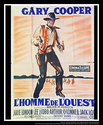 Man Of The West Gary Cooper 4x6 Ft French Grande Movie Poster Original 1958
