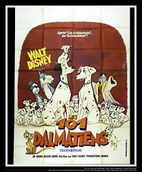 The 101 Dalmatians 5x8 Ft Double French Grande Movie Poster Rerelease 1961