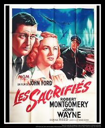 They Were Expendable John Wayne 4x6 Ft French Grande Movie Poster Original 1945