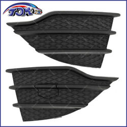 2013-2016 Ford Escape Left And Right Side Front Bumper Cover Grille Insert Black