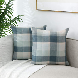 Vancl Pillow Covers Pack Of 2 Checked Decorative Pillow Covers 18X18 Throw Pillo