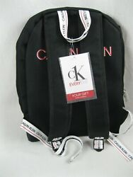 NWT CALVIN KLEIN CK Everyone Black Backpack Rucksack College Gym Bag $36.92