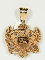 14kt Yellow Gold Russian Coat Of Arms 26.3 Grams Solid Russia Crest