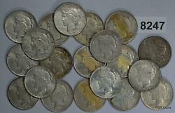 1921 Morgan And Peace Silver Dollars Vf-au Some Culls 8247