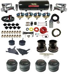Complete Air Ride Suspension Kit W/8 Gallon Tank 3/8 Valves 82-88 Chevy G-body
