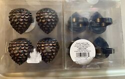 2 Packs Total Of 8 Bronze Colored Pinecone Napkin Rings Holder New From Target